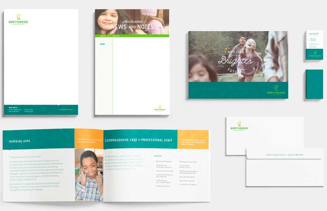 Collage of work for Northwoods Children's Services